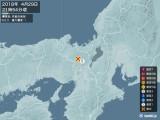 2018年04月29日21時54分頃発生した地震