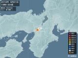 2018年06月21日19時13分頃発生した地震