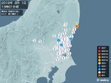2018年08月01日13時01分頃発生した地震