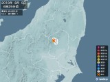 2018年08月05日06時25分頃発生した地震