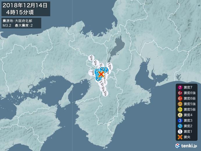 地震情報(2018年12月14日04時15分発生)