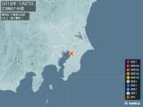 2019年01月27日23時01分頃発生した地震