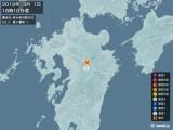 2019年03月01日18時10分頃発生した地震