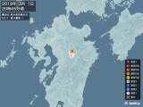 2019年03月01日20時45分頃発生した地震