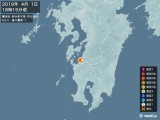 2019年04月01日18時15分頃発生した地震