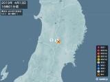 2019年04月13日16時01分頃発生した地震