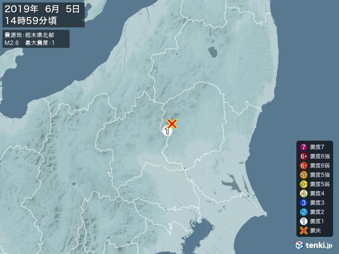 地震情報(2019年06月05日14時59分発生)