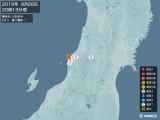 2019年06月28日20時13分頃発生した地震
