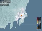 2019年10月31日11時06分頃発生した地震