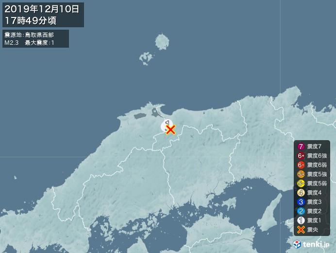 地震情報(2019年12月10日17時49分発生)