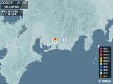 2020年01月09日06時29分頃発生した地震