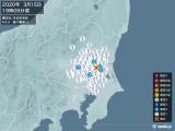 2020年03月15日19時09分頃発生した地震