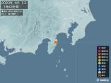 2020年04月01日01時43分頃発生した地震