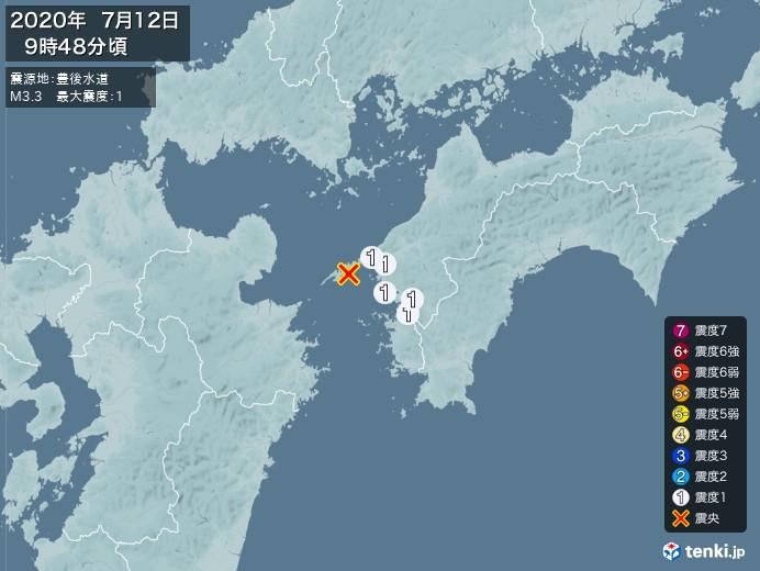 地震情報(2020年07月12日09時48分発生)