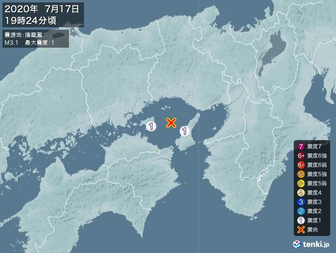 地震情報(2020年07月17日19時24分発生)