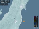 2020年12月23日02時04分頃発生した地震