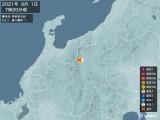 2021年06月01日07時20分頃発生した地震