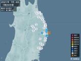 2021年07月04日01時24分頃発生した地震