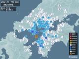 2021年07月08日01時24分頃発生した地震