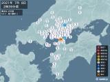 2021年07月08日02時39分頃発生した地震