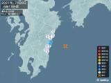 2021年07月26日06時13分頃発生した地震