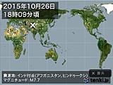 2015年10月26日18時09分頃発生した地震