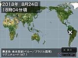 2018年08月24日18時04分頃発生した地震