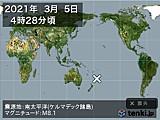 2021年03月05日04時28分頃発生した地震